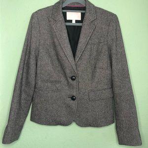 Banana Republic Brown Tweed Blazer Size 4